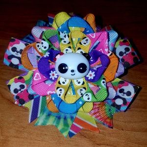 Other - Multi colored Panda bow